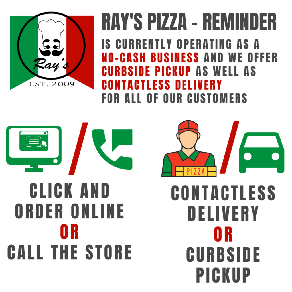 rays-pizza-contactless-delivery-curbside-pickup-notice